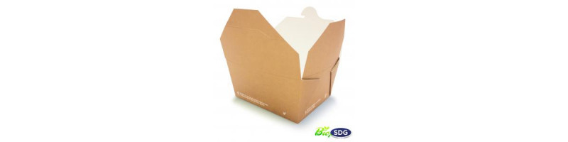 Food box biodegradabili e compostabili per asporto da 1200 ml -  art.637 - pacco da 20 pezzi