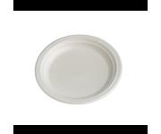 Piatti dessert biodegradabili e compostabili in cellulosa ricavata da canna da zucchero da 17 cm pz.50