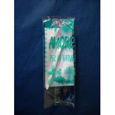 Cucchiai biodegradabili e compostabili in pla cristallizzato (cpla) imbustati con tovagliolo a un velo - pacco da 100 pezzi