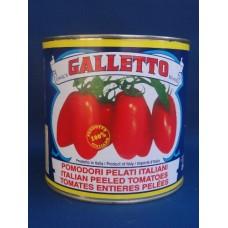 Pomodori pelati Galletto - Latta da 800 grammi