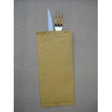 Busta politenata in carta paglia con tovagliolo - cartone da 1000 pezzi