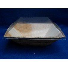 Coperchi a cupola biodegradabili e compostabili per piatto palma da cm 16 x 16 - pacco da 400 pezzi