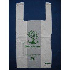 Shopper - borse medie biodegradabili e compostabili conformi normativa EN 13432 pz. 500