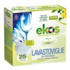 EKOS Detersivo Lavastoviglie Compresse - scatola da 25 tabs