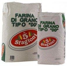 Farina bianca 5 stagioni 00 rinforzata - sacco verde da 25 kg