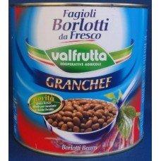 Valfrutta fagioli borlotti di giornata - latta da 2,6 kg -