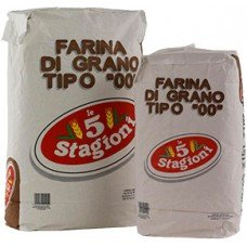 Farina 5 stagioni 00 manitoba - sacco bianco/marrone da 25 kg