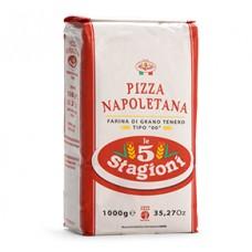 Farina bianca 5 stagioni 00 per pizza napoletana - sacco rosso da 10 kg