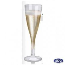 Bicchieri flute biodegradabili e compostabili 100 cc per bevande fredde - pacco da 27 pezzi