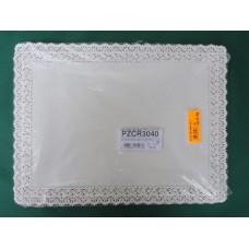 Pizzi rettangolari da cm 30x40 in carta porcellanata - pacco da 100 pezzi