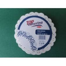 Pizzi sotto-bicchieri diametro 12 cm in carta porcellanata - pacco da 250 pezzi