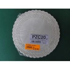 Pizzi sotto-torta diametro 20 cm in carta porcellanata - pacco da 100 pezzi