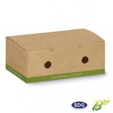 Contenitori biodegradabili e compostabili per crocchette da asporto - misura grande - pacco da 50 pezzi