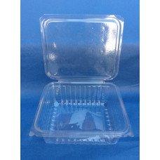 Vaschette biodegradabili e compostabili in pla da 1000 ml, cm 18,5x14,5 h 6,0 pz.400
