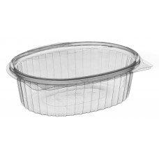 Vaschetta OPS ovale J1500 con coperchio x asporto - pacco da 50 pezzi