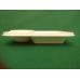 Contenitore street food biodegradabile e compostabile in cellulosa ricavata da canna da zucchero a due scomparti - pacco da 50 pezzi