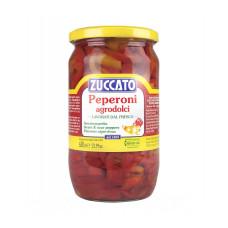Zuccato peperoni agrodolci a striscie - vaso vetro da ml 720