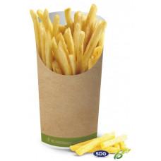 Bicchieri biodegradabili e compostabili per fritti - pacco da 50 pezzi