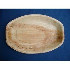 Piatti in foglia di palma ovali da cm 30x20 - pacco da 25 pezzi